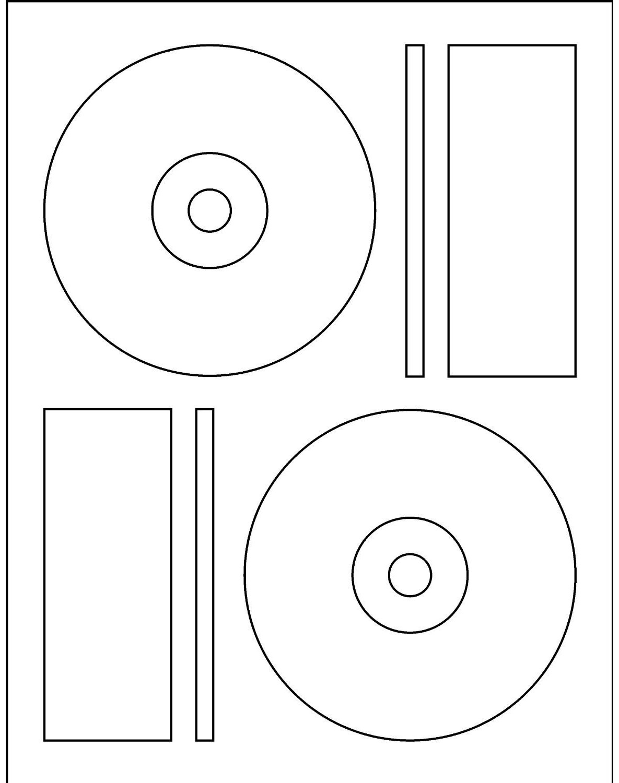 200 Laser Glossy CD / DVD Labels Memorex® Format - 100 Sheets - photo#45