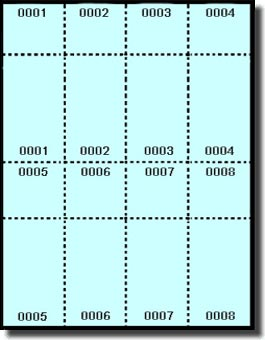 image relating to Tickets Printable named 400 Printable Raffle or Function Tickets with Numbered Stub