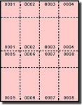 2,000 Numbered Pink Laser or Inkjet Raffle or Event Tickets with Numbered Stub, 250 sheets
