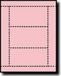 750 Pink Laser or Inkjet Printable Post Cards, 3 inch x 5 inch, 3 per sheet, 250 sheets