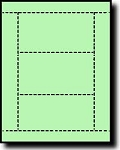 750 Light Green Laser or Inkjet Printable Post Cards, 3 inch x 5 inch, 3 per sheet, 250 sheets