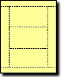 750 Light Yellow Laser or Inkjet Printable Post Cards, 3 inch x 5 inch, 3 per sheet, 250 sheets