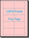 Laser or Inkjet Printable Pink or Cherry USPS Tray Tags, 67# Vellum Bristol,  250 Sheets