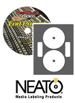 100 Genuine Neato® Brand CLP-192237 Full Coverage Laser ONLY Glossy CD/DVD Labels - 50 Sheets