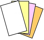 GENUINE NCR® 5926 Superior Digital Carbonless Paper, 4 part, Legal Size 8.5  x 14, Straight Collated