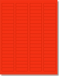 1,600 Fluorescent Neon Red Labels, 1-3/4  x 1/2, 20 Sheets with 80 Labels per Sheet use Avery® 5267 Template Laser Printers Only