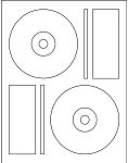 200 Laser Glossy CD / DVD Labels Memorex® Format - 100 Sheets