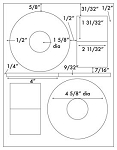 200 White Matte CD / DVD Labels, for Laser and Inkjet, use CD Stomper® Pro Template 100 Sheets
