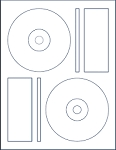 40 CD-DVD Labels, 448448 Laser Glossy  (Same size as Memorex) 20 Sheets