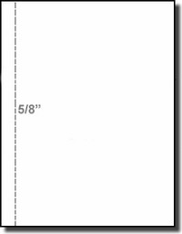 Laser Inkjet Paper 5/8 inch Vertical Marginal Perforation, 20# White Bond, PrintWorks Professional 04107, one Ream of 500 Sheets, Paris Business Forms