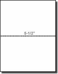 "Printworks Professional 04118, 8-1/2 x 11 White 24# Heavy Weight Laser Inkjet Bond, Perforated at 5-1/2"", Paris Business Forms"