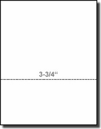 PrintWorks Professional 04332 White 24#, 8-1/2 x 11, Laser / Inkjet Bond, Perforated at 3-3/4, Paris Business Forms