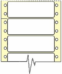 5,000 Compulabel® 110553 White Pin Feed Continuous Form Labels, 2-3/4 x 15/16 inches (2.75 x 1)