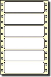 Compulabel® 170357 Dot Matrix, Continuous, Latex Impregnated, 3-1/2 x 15/16 Tape Reel Labels, Perforated Between Labels