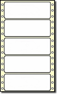 "5,000 Compulabel® 111150 Continuous Form Labels P1-40, 4 x 1-7/16"" Same size as AVE30721 Avery® 4019, 4014, Uline® S-2311"