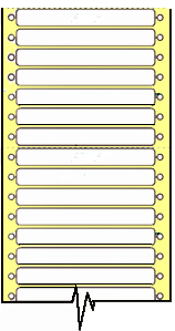 10,000 Compulabel® 110204 White Pin Feed, Continuous Form Dot Matrix Labels 3-1/2 x 7/16