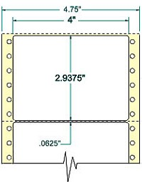 Compulabel® 111600 4 x 2-15/16 Continuous Shipping Labels, 2,500 Labels per Box, Uline® S-437