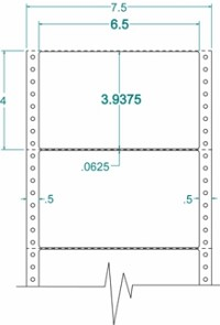 Compulabel® 111958 Continuous Dot Matrix Labels, 6-1/2 x 3-15/16, 2.5 M Labels per Box, Uline S-2878