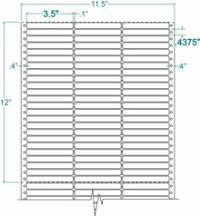 15,000 Compulabel® 130151 Three Across Pin Feed Dot Matrix Label 3-1/2 x 7/16 (3-1/2 x 1/2)