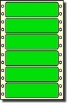 Compulabel® 161256 Continuous Form Pin Feed Labels 3-1/2 x 15/16 Fluorescent Green, One Across, 5,000 Labels per Box