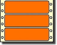 Compulabel® 161458, 3-1/2 x 15/16 Bright Fluorescent Neon Orange Pin Feed Continuous Form Labels, 5,000 Labels per Box