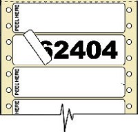 3,000 Compulabel® 162404 Piggyback Pin Feed Label 3-1/2 x 15/16, One Across