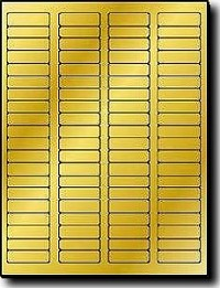 1,600  Gold Metallic Glossy Foil Label Outfitters® 1.75 x 0.5 inches Laser ONLY Printer Labels, 80 Labels per Sheet, 20 Sheets