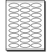 "2-1/4"" x 1"" Oval Labels"