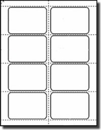 160  Name Badge Labels, 3.375 x 2.33 - White Matte 20 Sheets