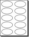200 Oval Stickers 3.25 x 2 for Laser or Inkjet  Printers, 20 Sheets with 10 Labels per Sheet