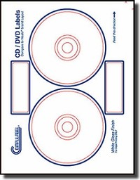 40 Compulabel® 375074 Neato® Format INKJET ONLY Crystal Clear - Transparent CD, DVD Labels, 20 Sheets