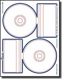 200 Compulabel® 375085 Crystal Clear Inkjet CD, DVD Labels Memorex® Format 100 Sheets