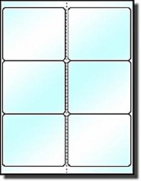 120 Laser ONLY Cystal Clear, 4 x 3-1/3 Labels, Six per Sheet use Avery® 5164 template, 20 Sheets