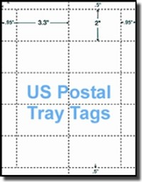 US Postal Service Tray Tags, White