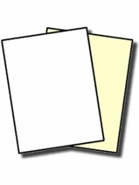 GENUINE NCR® 5887 Digital 2 Part Carbonless Paper, Collated White, Canary, Letter Size, Black Image Carbonless Reverse or Straight Collated 500 Sheets make 250 Sets