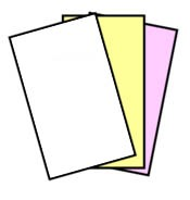 GENUINE NCR® 5902 Superior Digital Carbonless Paper, 3 Part, 8.5 x 14 Legal Size, Reverse Collated, Carbonless,  White, Canary, Pink, 501 Sheets, 167 Sets of 3 Sheets