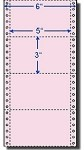4,000 Compulabel® 210352 Pink, 1 Across, Continuous Pin Feed Index Cards, 5 x 3