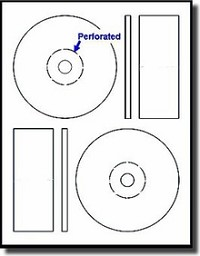 200 Pack Memorex 61300 Label Maker Compatible CD - DVD Labels with Perforated Hub