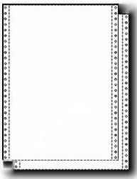 9-1/2 x 14 - Legal Size Continuous 2 Part Carbonless Paper, 1,600 Sets, Both Parts 15 lb. White
