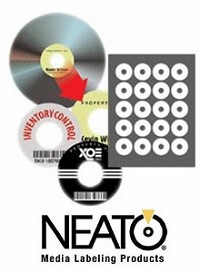 Neato® CLP-192268 PhotoMatte for Inkjet and MOST Laser Printers CD/DVD Core or Hub Labels - 500 Pack