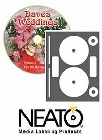 40 Genuine Neato® CLP-192533 INKJET ONLY Full Coverage High Gloss Photo Quality CD/DVD Labels - 20 Sheets