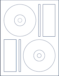 200 White Matte CD / DVD Labels Memorex® Format - 100 Sheets