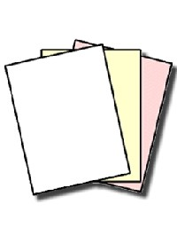 GENUINE NCR® 5900 Superior 3 Part Letter Size, Digital Carbonless Paper, White, Canary, Pink, Reverse Collated, 501 Sheets, 167 Sets of 3 Sheets