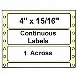 5,000 Compulabel® 110755 Continuous Pin Feed Labels, 4 x 15/16 inches, one across, Avery® 4065, Uline® S-2309 size