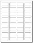 6,000 LabelOutfitters®  Return Address Labels, Matte White Stickers 1.75